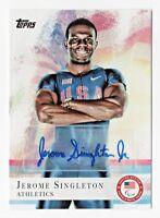 2012 Topps USA Olympic Team Autograph #48 Jerome Singleton Athletics