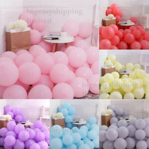 """5"""" 10"""" 12"""" PASTEL Balloons Birthday LATEX Ballons Baby shower Party Decoration"""