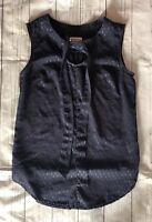 Women's Merona Navy Blue Semi-Sheer Sleeveless Top-Size XS