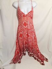Silvergate Dress Size Small Spaghetti Straps Empire Waist Asymmetrical Hem