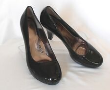 SOFFT Size 11 M Black Patent Leather High-Heel Platform Classic Dress Pumps