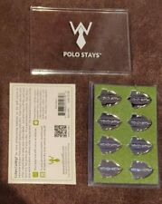 WURKIN STIFFS 8 EIGHT POLO STAYS FOR POLO COLLARED SHIRTS - MAGNETIC- BRAND NEW!