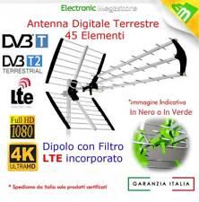 ANTENNA TV DIGITALE TERRESTRE 43 ELEMENTI UHF DVB-T HD GUADAGNO 30 dB LTE 21-60