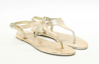 Preworn Womens EU Size 39 Gold Sandals