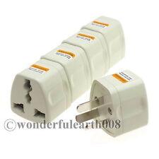 5 x AU grounded Travel Adapter Australian Power Convert US EU UK to AU Plug