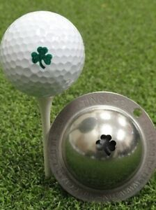 New Tin Cup Irish Shamrock Clover Golf Ball Design Marker Stencil