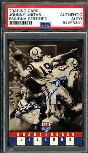 Johnny Unitas PSA DNA Autograph 1991 Quarterback Legends #48 Hand Signed