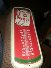 Veedol Flying A Motor Oil Thermometer - No Rust by Taylor Needs The Thermometer.