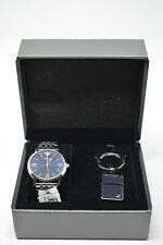 Emporio Armani Kappa Mens AR80010 Watch Box Set with Key Chain Silver Tone