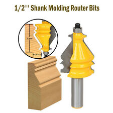 """Architectural Molding Router Bit Set 1/2"""" Shank Woodworking Molding Cutter Tool"""