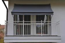Angerer Klemmmarkise Balkonmarkise Balkon Markise dunkelgrau 400 cm Handkurbel