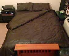 SOFT SHEEP NAPPA REAL LEATHER TWIN SIZE BED SHEET WITH TWO PILLOWS