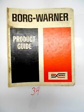 BORG-WARNER MANUAL INDUSTRIAL TRANSMISSION PRODUCT GUIDE GEARS DRIVE SHAFT