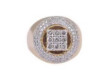 Pave 1,76 Cts Runde Brilliant Cut Diamanten Herrenring In Hallmark 14K Gelbgold