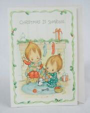 Vintage Betsey Clark 1982 Christmas Is Sharing Greeting Card with Envelope