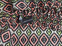 Atmosphere Size 16 Neon Orange Yellow Black Aztec Print Maxi Skirt Tie Waist