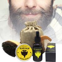 Mens Gift Beard Care Kit / Beard Oil & Cream & Beard Comb & Beard Brush & Bag