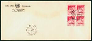 Mayfairstamps Thailand 1962 ECAFE Secretariet United Nations Block First Day Cov