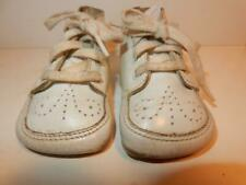 Vintage White Leather Baby Shoes Size Perfect For Composition Or Character Doll