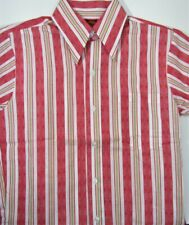 New listing Vintage New Kings Road Red Stripe Men's Sport Shirt 14 14-1/2 S Small Taper Fit