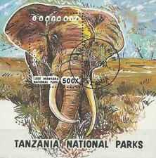 Timbre Animaux Eléphants Tanzanie BF194 o lot 27392