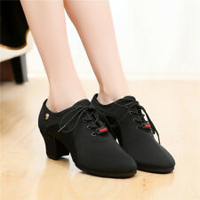 Womens Ladies Girls Oxford Rubber Sole Sneaker Ballroom Modern Latin Dance Shoes