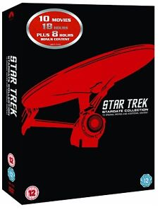 STAR TREK 1979 - 2002 - MOVIES 1-10  STARDATE COLLECTION Complete  R2 DVD not US