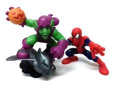 "MARVEL COMICS SUPERHERO SQUAD 2.5"" Spiderman & Green Goblin figures set"