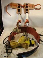Buckingham Adjustable Steel Pole/Tree Climbing Spurs/Spikes/Gaffs Kit
