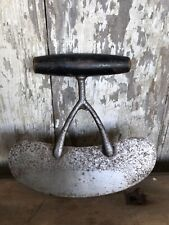 Antique Food Chopper Black Wood Handle Rustic Country Kitchen