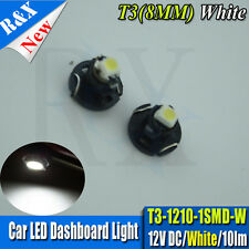 2XWhite T3 neo wedge 1210 LED Upgrade Dashboard Speedo Dials Interior Light Bulb