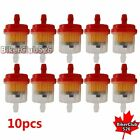 10x Red Gas Fuel Filter Pit Dirt Bike ATV Buggy Go Kart Snowmobile Motorcycler
