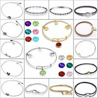 Fine Silver Bangle Chain Leather Bracelet New Designs For 925 Silver Bead Charms