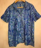 """Ladies Mixed Blue Pattern Shirt Chest 46""""<NH5488"""