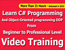 Learn C# Programming from beginner to Prof. Video Training Tutorials CBT +21 Hrs