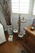 New listing Figurine Display Stand with trifed base, turned pedestal and 4 spots for figures
