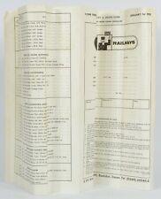 WRENN HOME TRADE & RETAIL PRICE LIST & ORDER FORM JANUARY 1st 1978