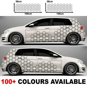 Car Camouflage kit hexagon honeycomb side stickers decals