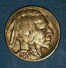 1937 Philadelphia Mint Buffalo Nickel   ID #51-86