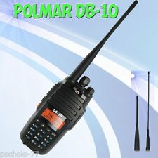 POLMAR DB10 Walkie Talkie Doble Banda 144/146 VHF 430/440 UHF 10W de potencia