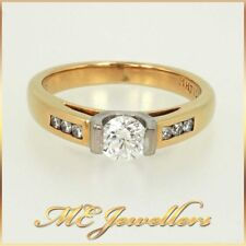 Real Natural Untreated Diamond Engagement Ring By Michael Hill 18K Yellow Gold