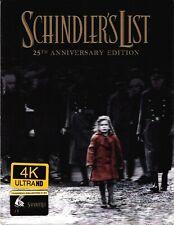 New ListingNew Schindler's List 4K Xl Lenticular SteelBook Blu-ray FilmArena Fac #124 Czech