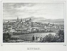 Zittau-vista general-Saxonia-litografía 1834/1835