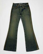 Fornarina jeans donna usato bootcut a zampa W26 tg 40 flared brillantini T5505