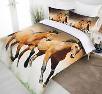 Sunset Run Horse Digitally Printed Quilt Cover Set - SINGLE DOUBLE QUEEN KING