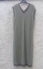 M&S Green Gold Black Sleeveless V Neck Midi Tunic Jumper Dress BNWT Size 12