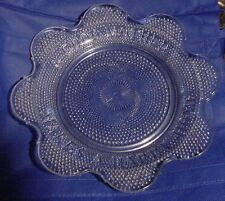 McKee EAPG Good Mother Makes a Happy Home Bread Plate Star Rosette Pattern