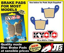 REAR DISC BRAKE PADS TO SUIT HONDA HM CR250R Moto (04) PATTERN