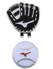 Mizuno Japan Golf Ball Cap Clip Marker Baseball Glove 5LJD192200 Black