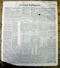 1836 newspaper w description New US Flag containing 26 stars - AR & MI admitted